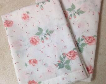 Shabby Chic, Cottage, Dust Rose Patterned JP Stevens, Tastemaker Standard Pillowcases