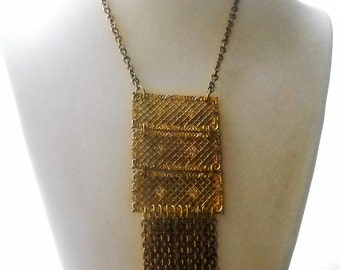 Early 60's Boho Necklace. Handmade in France. Single specimen