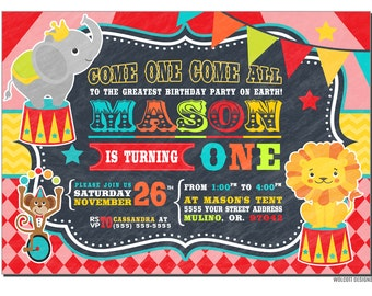 Circus Birthday Invitation, Carnival Birthday Party, Big Top, Tickets, Circus Birthday Party, Girls Boys Birthday Party, Circus, Chalkboard