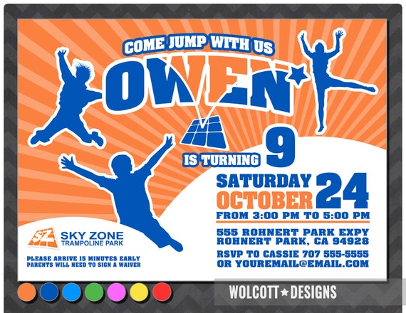 Trampoline Birthday Party Invitation Wording Bounce House
