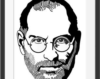 Steve Jobs Portrait Illustration