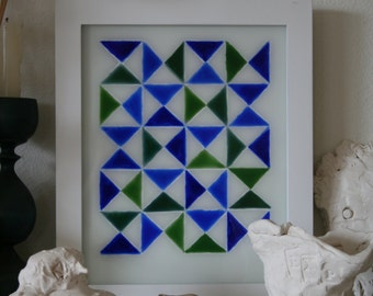 Blue and Green Triangles