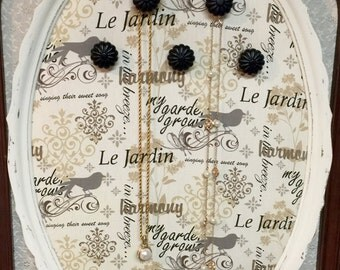 Oval Le Jardin, jewelry organizer, jewelry storage, wall hanging jewelry storage, jewelry holder, necklace holder