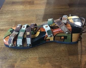 Handmade wood clog