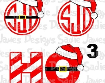 Santa Ho Ho Ho SVG, EPS and Silhouette Studio cutting File, Instant Download