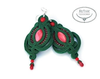 "Soutache earrings ""Rozalia"""