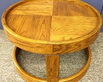 Mid-century oak coffee/side table
