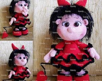 Elf Devil Doll PATTERN crochet amigurumi