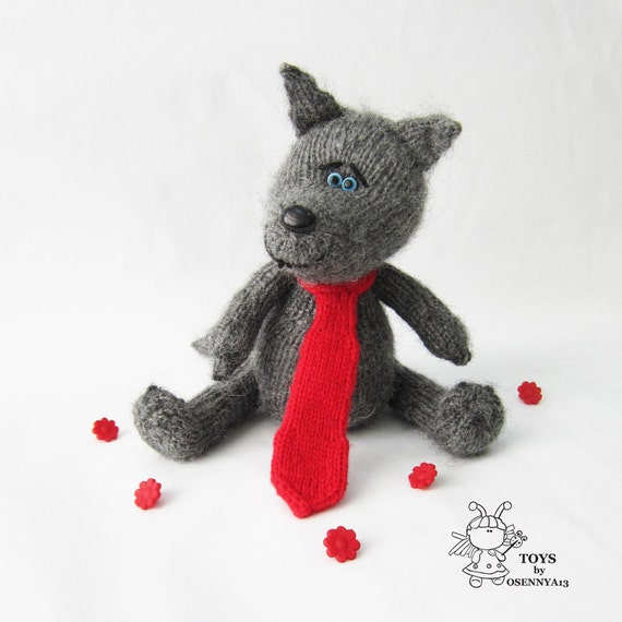 Wolf toy. Amigurumi wolf. Amigurumi wolf toy. PDF instant download. Knitting ...