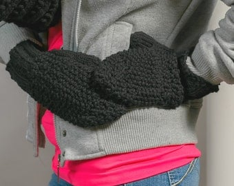 Mittens women hand-knitted mitts woman knit winter