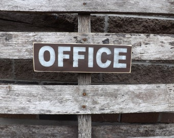 Office wood sign country and office deco work place sign office signs office decor