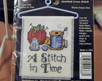 A Stitch in Time Cross Stitch Kit