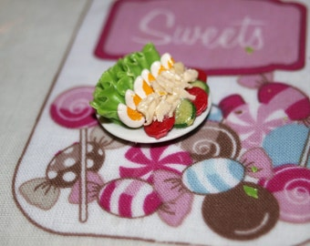 Dolls House Miniature Plate of Lettuce