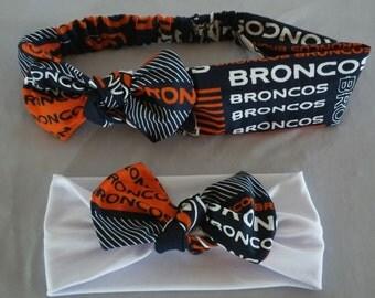 Denver Broncos Mommy daughter set