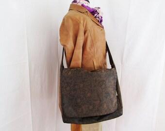 Sueded Brown Messenger Bag