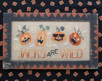 JACKS Are WILD; Instant Digital Pattern for Cross Stitch; PDF format; Fun Jack-O-Lanterns for Halloween!