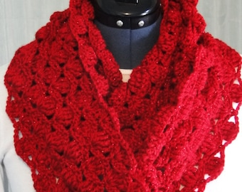 Easy Chunky One Skein Infinity Scarf Crochet Pattern