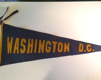 Vintage Washington DC Pennant