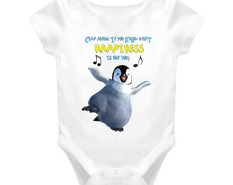 Happiness - Dancing Penguin, Baby One Piece,