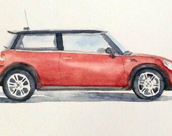 Mini Cooper, Mini Cooper painting, car painting, British car