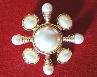 Maltese Cross - Art Deco Brooch - Kenneth J Lane - Cross Brooch - Cross Pendant - Vintage Brooch - Vintage Jewelry - Gift For Her