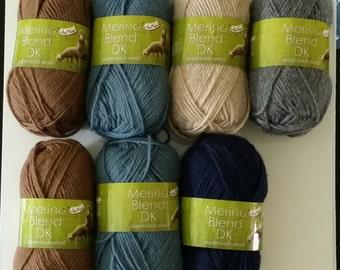 King Cole Merino Blend DK 100% wool Anti Tickle superwash 50g yarn clerical grey 49