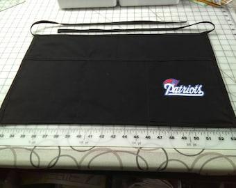 New England Patriots Server apron waitress apron  waiter apron Embroidered