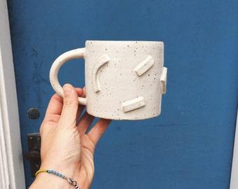 3d textured funky ceramic mug