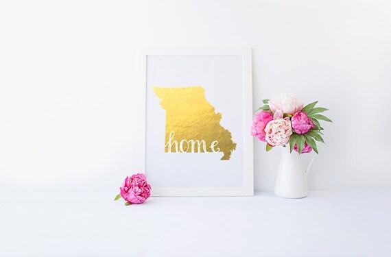"Missouri ""Home"" State Foil Prints"