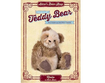 Teddy Bear Pattern and Instructions Booklet - Rolo 29cm when made