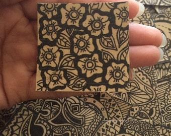 Henna Flowers Sticker