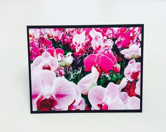Handmade Orchid All Occasion Card