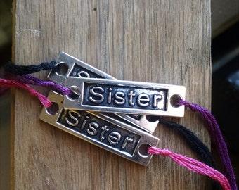 Sister Wish Bracelet, Word Charm Bracelet, Wish Charm, Family Charm, Sister Jewelry, Friend Charm Jewelry, Simple Bracelet, Friendship Charm