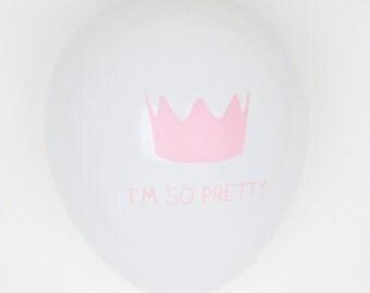 5 Princess Crown balloons