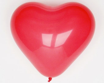 10 red Heart balloons  - Valentine's Day, Wedding