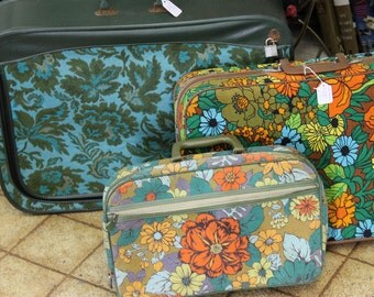 Trio of Psychedelic Suitcases