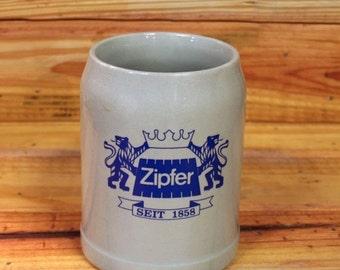 ON SALE German Beer Stein Zipfer.  Box 42