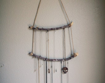 Rustic Driftwood Necklace/Jewelry Holder and/or Organizer