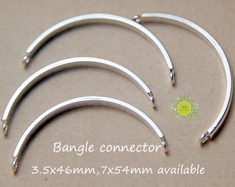 20 sideways bangle connector-Perfect for Making Bezel Cup Cuff Bangle Bracelets-Charm Connector-Choose size and color