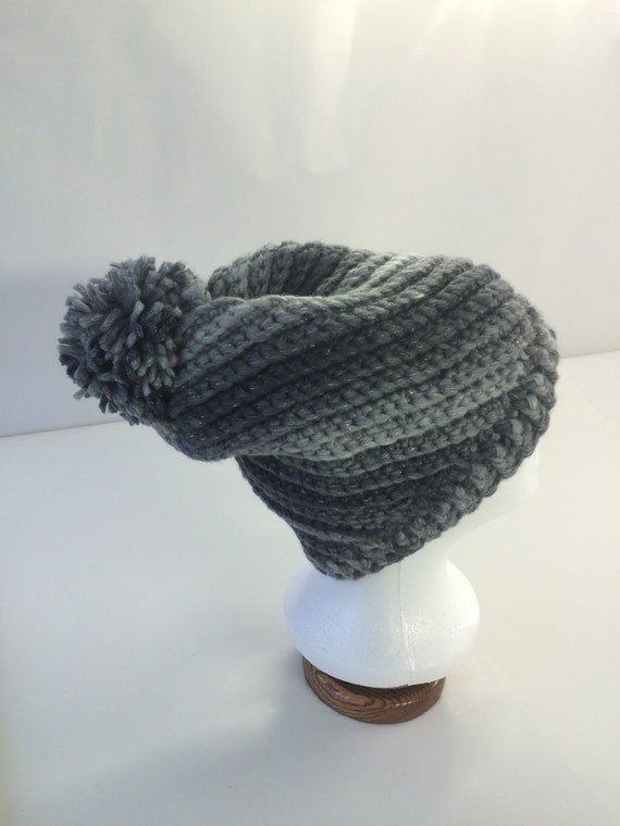 Frosted Coal Spiral Hat