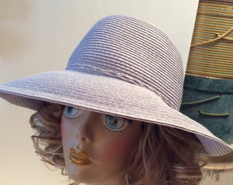 50% Off Sale Vintage DP Upturned Wide Brim Straw Hat