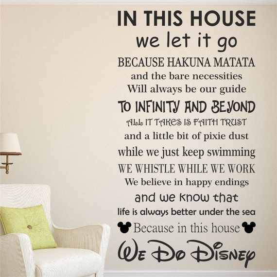 Wall Art Quotes Disney : We do disney wall quote art sticker kids decal home gift