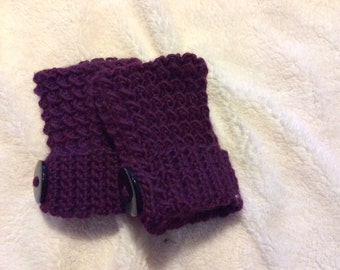 Moss seed stitch fingerless gloves