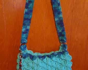Handmade Crochet Crocodile Puese