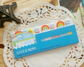 Stick & Memo SUNSHINE RAINBOW Cute Kawaii Sticker notes/ 1 PC