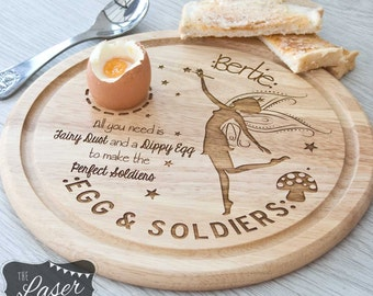 Laser Engraved Wooden Round Fairy Egg Board