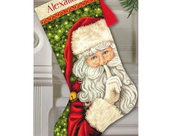 Dimensions Gold Collection Cross Stitch Kit - Secret Santa Stocking, #70-08938