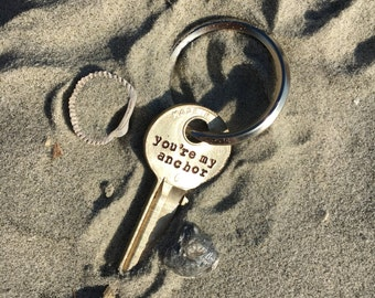 You're my anchor key chain | husband, wife anniversary gift, Father's Day