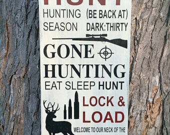 Hunting Sign 12x24