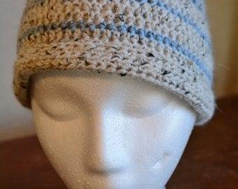Crocheted Beanie with Brim